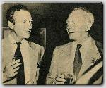 David Niven and John Farrow at a party for Mike Todd