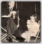 John Farrow having a spot of tea with Janet Chapman