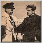 Director John Farrow with Paul Muni in Canada during the filming of Commandos Strike at Dawn