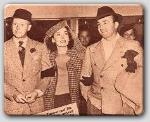 Another Pic at the Ice Follies-The Farrows and the Hornblows (Myrna Loy and hubby Arthur)