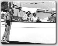 Catalina Trip--Johnny Weissmuller, Benita Hume, Maureen, and John Farrow