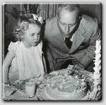 Mia celebrating her birthday with daddy John Farrow
