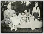 John Farrow, Mia, Patrick, John Jr., Maureen O'Sullivan, and big brother Michael