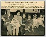 And baby makes five!  John Farrow, Maureen O'Sullivan holding baby Prudy, Michael, Patrick, Mia, and Johnny