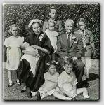 Mia, Maureen holding baby Tisa, Steffi, Michael, John, Patrick, in front are Prudy and Johnny