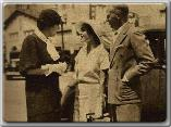 Maureen O'Sullivan and Johnnie Farrow stop for a chat with Margaret Ettinger Shattuck