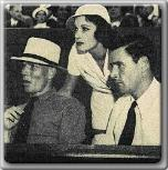 John Farrow, Lila Damita, and Errol Flynn at the tennis matches