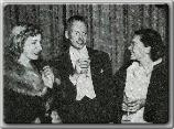 Gertrude Michaels, John Farrow, and Maureen O'Sullivan at the Club Seville