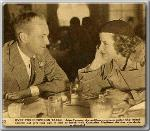 John Farrow having lunch with Katherine Hepburn