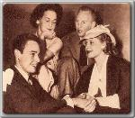 Maureen O'Sullivan, John Farrow, and friends