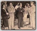 Taken at Paramount--Donna Reed, John Farrow, Alan and Sue Ladd, meeting with West Point Brigadier General Gerald R. Higgins.